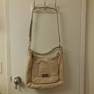 Coach Kristen Leather Hobo Bag in Champagne